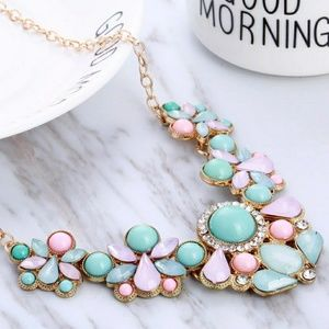 Jewelry - Blue and Pink Statement Necklace